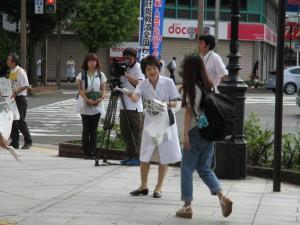 テレビ2社と新潟日報の取材がきてました。